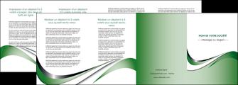 faire modele a imprimer depliant 4 volets  8 pages  web design fond vert abstrait abstraction MLGI72198