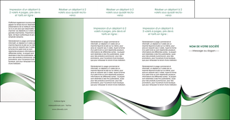 impression depliant 4 volets  8 pages  web design fond vert abstrait abstraction MLGI72202
