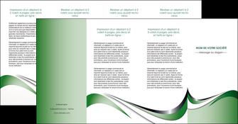 impression depliant 4 volets  8 pages  web design fond vert abstrait abstraction MLGI72202