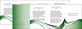 realiser depliant 4 volets  8 pages  web design fond vert abstrait abstraction MLGI72204
