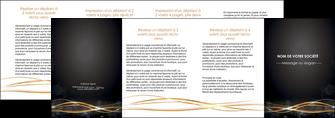 imprimerie depliant 4 volets  8 pages  abstrait abstraction design MIF72256