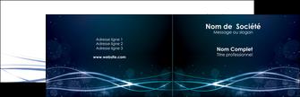 modele carte de visite fond  bleu couleurs froides structure en bleu MIF72340