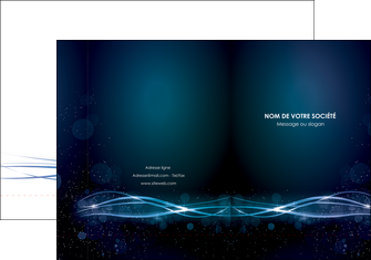 realiser pochette a rabat fond  bleu couleurs froides structure en bleu MIF72346
