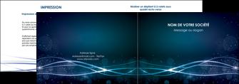 faire modele a imprimer depliant 2 volets  4 pages  fond  bleu couleurs froides structure en bleu MIF72348