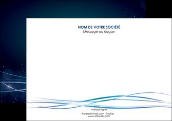 maquette en ligne a personnaliser affiche fond  bleu couleurs froides structure en bleu MIF72356