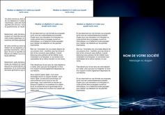 imprimer depliant 3 volets  6 pages  fond  bleu couleurs froides structure en bleu MIF72358