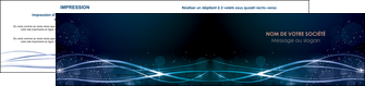 realiser depliant 2 volets  4 pages  fond  bleu couleurs froides structure en bleu MIF72368