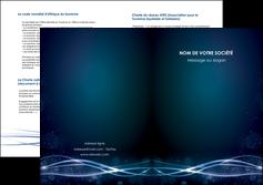 personnaliser modele de depliant 2 volets  4 pages  fond  bleu couleurs froides structure en bleu MIF72372
