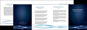 realiser depliant 4 volets  8 pages  fond  bleu couleurs froides structure en bleu MIF72374