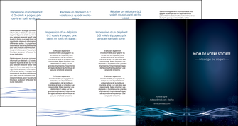 personnaliser modele de depliant 4 volets  8 pages  fond  bleu couleurs froides structure en bleu MIF72378
