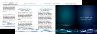 modele en ligne depliant 4 volets  8 pages  fond  bleu couleurs froides structure en bleu MIF72380