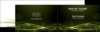 modele en ligne carte de visite fond vert structure en vert abstrait MIF72392