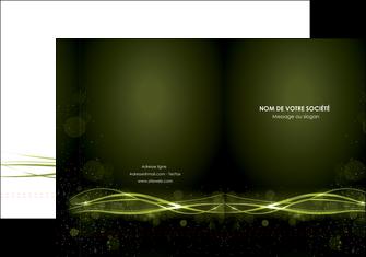 faire modele a imprimer pochette a rabat fond vert structure en vert abstrait MIF72396