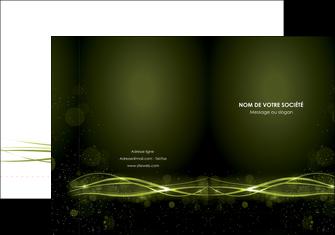 creation graphique en ligne pochette a rabat fond vert structure en vert abstrait MIF72398