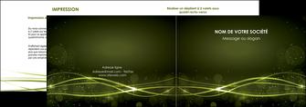 personnaliser modele de depliant 2 volets  4 pages  fond vert structure en vert abstrait MIF72400