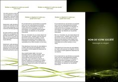 imprimer depliant 3 volets  6 pages  fond vert structure en vert abstrait MIF72410