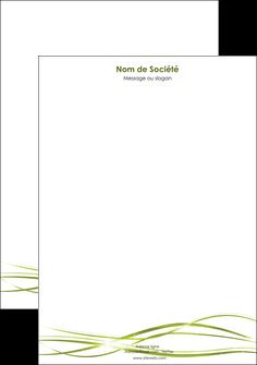 faire modele a imprimer tete de lettre fond vert structure en vert abstrait MIF72416