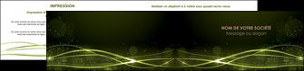 modele depliant 2 volets  4 pages  fond vert structure en vert abstrait MIF72420