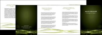 creer modele en ligne depliant 4 volets  8 pages  fond vert structure en vert abstrait MIF72426