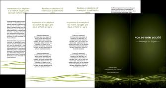 imprimer depliant 4 volets  8 pages  fond vert structure en vert abstrait MIF72430
