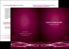 faire modele a imprimer depliant 2 volets  4 pages  rose rose fushia couleur MLGI72442