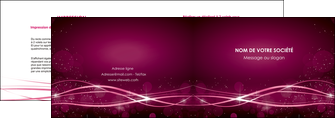 creation graphique en ligne depliant 2 volets  4 pages  rose rose fushia couleur MLGI72452