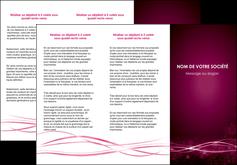 imprimer depliant 3 volets  6 pages  rose rose fushia couleur MLGI72462