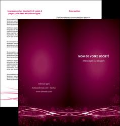 personnaliser maquette depliant 2 volets  4 pages  rose rose fushia couleur MLGI72464
