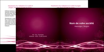personnaliser maquette depliant 2 volets  4 pages  rose rose fushia couleur MLGI72466