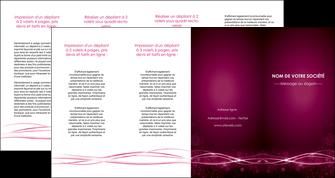 creer modele en ligne depliant 4 volets  8 pages  rose rose fushia couleur MLGI72482