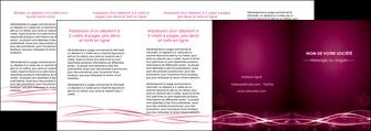 personnaliser modele de depliant 4 volets  8 pages  rose rose fushia couleur MLGI72484