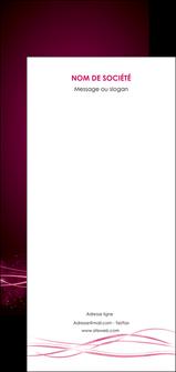 creation graphique en ligne flyers rose rose fushia couleur MLGI72486