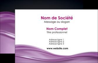 faire carte de visite web design violet fond violet couleur MLGI72502