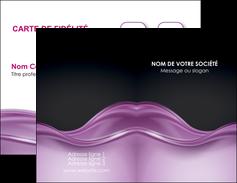 creer modele en ligne carte de visite web design violet fond violet couleur MLGI72512