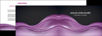 realiser depliant 2 volets  4 pages  web design violet fond violet couleur MLGI72520