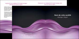 personnaliser modele de depliant 2 volets  4 pages  web design violet fond violet couleur MLGI72532