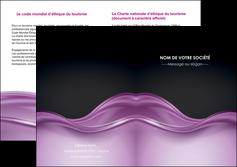 personnaliser modele de depliant 2 volets  4 pages  web design violet fond violet couleur MLGI72542