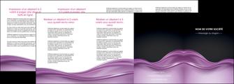 imprimer depliant 4 volets  8 pages  web design violet fond violet couleur MLGI72546