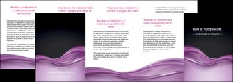modele en ligne depliant 4 volets  8 pages  web design violet fond violet couleur MLGI72552
