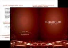 personnaliser modele de depliant 2 volets  4 pages  rouge couleur couleurs MIS72732