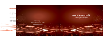 creer modele en ligne depliant 2 volets  4 pages  rouge couleur couleurs MLGI72742
