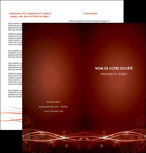 personnaliser modele de depliant 2 volets  4 pages  rouge couleur couleurs MIS72754