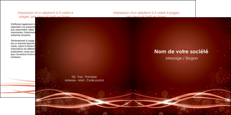modele depliant 2 volets  4 pages  rouge couleur couleurs MIS72756