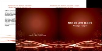 modele depliant 2 volets  4 pages  rouge couleur couleurs MLGI72756