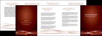 personnaliser modele de depliant 4 volets  8 pages  rouge couleur couleurs MIS72768