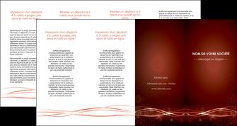 imprimer depliant 4 volets  8 pages  rouge couleur couleurs MIS72772