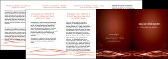 personnaliser maquette depliant 4 volets  8 pages  rouge couleur couleurs MLGI72774
