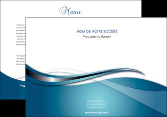 creation graphique en ligne set de table web design bleu fond bleu couleurs froides MIF72778
