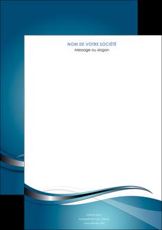 imprimer affiche web design bleu fond bleu couleurs froides MIF72782