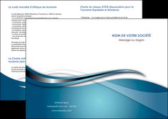 creation graphique en ligne depliant 2 volets  4 pages  web design bleu fond bleu couleurs froides MIF72784